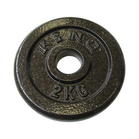 KING แผ่นน้ำหนัก สำหรับดัมเบล และบาร์เบล ขนาดแกน 30 มม. น้ำหนัก 2 กก. (แผ่น)
