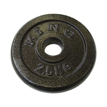 KING แผ่นน้ำหนัก สำหรับดัมเบล และบาร์เบล ขนาดแกน 30 มม. น้ำหนัก 2.5 กก. (แผ่น)