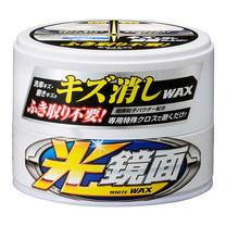 SOFT99 แวกซ์ลบรอยพร้อมเคลือบสีรถ สำหรับรถสีขาว/ขาวมุก New Scratch Clear Wax Mirror Finish (White) 200 g