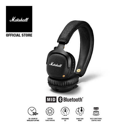 MARSHALL หูฟัง MID ACTIVE NOISE CANCELLING - BLACK