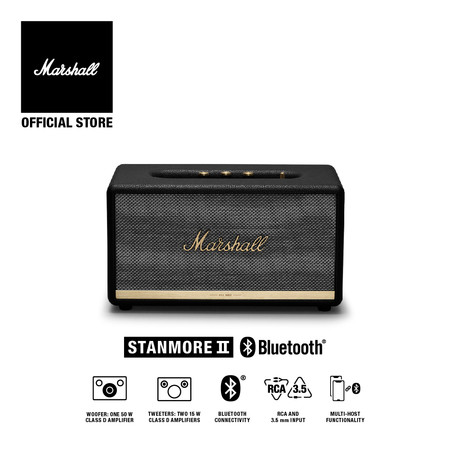 MARSHALL ลำโพง STANMORE II BLUETOOTH - BLACK