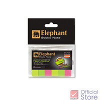 Elephant กระดาษโน้ต กาวในตัว อินเด็กซ์ ตราช้าง นีออน 12 x 50 มม. (80 แผ่น)
