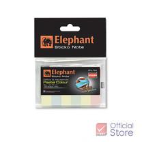 Elephant กระดาษโน้ต อินเด็กซ์ ตราช้าง สีอ่อน 12 x 50 มม. (100 แผ่น)