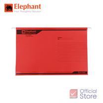 Elephant ตราช้าง แฟ้มแขวน 925 แดง แพ็ก 10 เล่ม