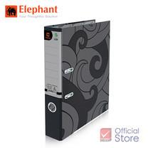 Elephant ตราช้าง แฟ้มสันแคบ 125F ดำ