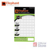 Elephant ตราช้าง แล็บสติ๊กเกอร์ เบอร์ A10 25X50
