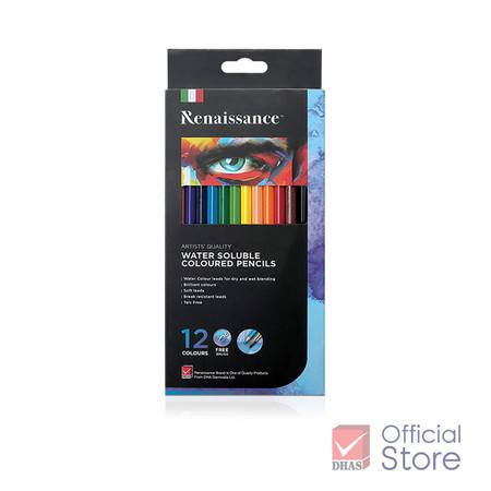 Renaissance เรนาซองซ์ ดินสอสีระบายน้ำ 12 สี