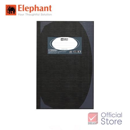 Elephant ตราช้าง สมุดมุมมัน 70G 5/100 HC101 ดำ