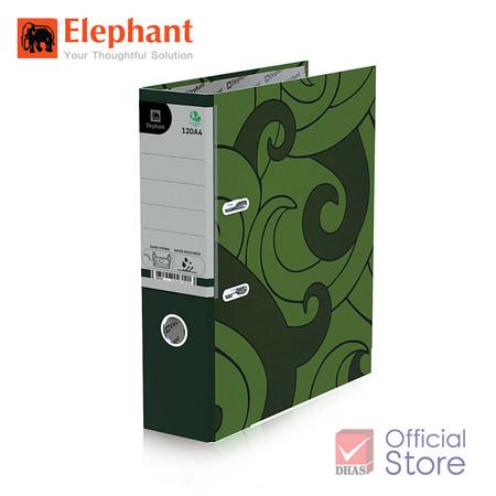 Elephant ตราช้าง แฟ้มสันกว้าง 120A4 เขียว