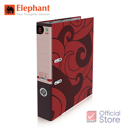 Elephant ตราช้าง แฟ้มสันแคบ 125F แดง