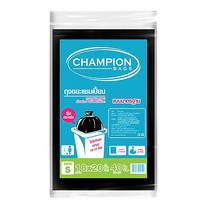 CHAMPION ถุงขยะแบบมาตรฐาน สีดำ ขนาด 18 x 20 นิ้ว (40 ใบ/แพ็ก)