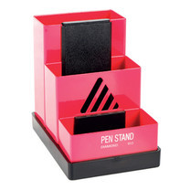 กล่องเหล็กใส่ปากกา ตราเพชร 933 ขนาด 8.4x12.5x11.2 ซม. 3 ช่อง