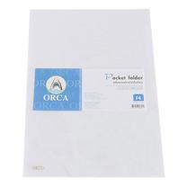 แฟ้มซอง ORCA F4 สีขาว (แพ็ค 12 เล่ม)