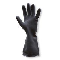 ถุงมือยางธรรมชาติ KRATING AMS-3861D112-202 ยาว 12 นิ้ว สีดำ ขนาดกลาง