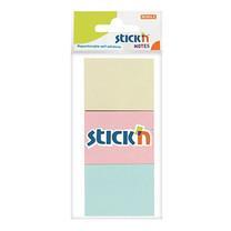 """กระดาษโน้ตกาว สติกเอ็น 1.5""""X2"""" 21126 คละสีPastel (1x3)"""