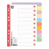 อินเด็กซ์กระดาษ ตราช้าง 310 A4 (1-10 ) 10 สี