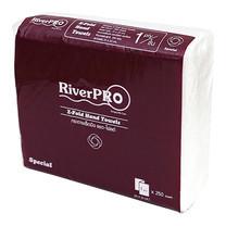 RiverPro กระดาษเช็ดมือแบบแผ่น Z-Fold 1 ชั้น ขนาด 21 x 23 ซม. (250 แผ่น/แพ็ก)