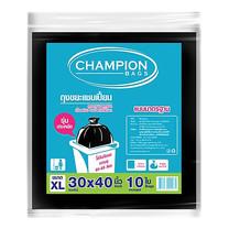 CHAMPION ถุงขยะแบบมาตรฐาน สีดำ ขนาด 30 x 40 นิ้ว (10 ใบ/แพ็ก )