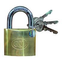 กุญแจแขวนทองเหลือง สามห่วง 32 mm. ขนาด 1 นิ้ว