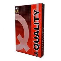 กระดาษถ่ายเอกสาร QUALITY 80/500 A3 (ห่อสีแดง)
