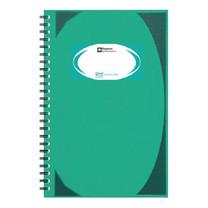 สมุดบันทึกมุมมันสันห่วง ตราช้าง WHC-404 สีเขียว