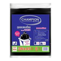 CHAMPION ถุงขยะแบบหนา สีดำ ขนาด 36 x 45 นิ้ว (8 ใบ/แพ็ก)
