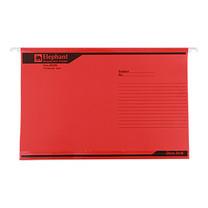 แฟ้มแขวน ตราช้าง 925 F4 สีแดง(แพ็ค 10 เล่ม)