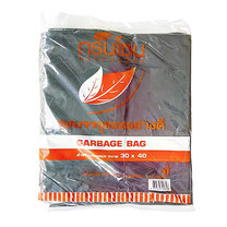 """ถุงขยะ สีดำ กรีนโซน ขนาด 30x40"""" บรรจุ 1 kg."""