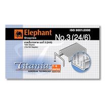 ลวดเย็บกระดาษ ตราช้าง Titania 3-1M (24/6) 1000ลวด