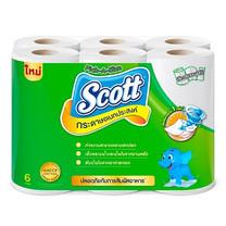 กระดาษเช็ดอเนกประสงค์ Scott ทาวเวล Pick A Size (แพ็ค6 ม้วน) สีเขียว