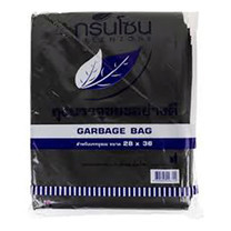 กรีนโซน ถุงขยะ สีดำ ขนาด 28 x 36 นิ้ว (1 กก./แพ็ก)
