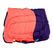 เศษผ้าเย็บวนแบบหนา คละสี 10X10 นิ้ว (Pack 25 Kg.)