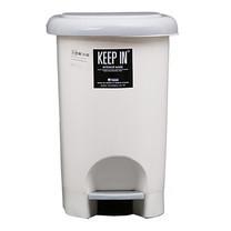 ถังขยะพลาสติก KEEP IN RW9262 (14 ลิตร) พื้นครีมขาว ฝาเทา