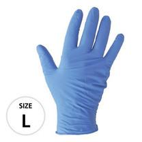 ถุงมือไนไตร MICROTEX รุ่น SUPER-TOUCH Size L สีฟ้า (กล่อง 50 คู่)