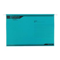 แฟ้มแขวน ตราช้าง 925 F4 สีฟ้า(แพ็ค 10 เล่ม)