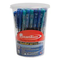 ปากกาเจลโล่พลัส ควอนตั้ม เรนโบว์ 007 0.7 มม. สีน้ำเงิน(กล่อง 50 ด้าม)