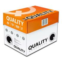 กระดาษถ่ายเอกสาร ควอลิตี้ ห่อส้ม 70 แกรม 500 แผ่น A4 (5 รีม/แพ็ก)