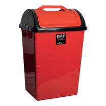 ถังขยะสี่เหลี่ยมฝาสวิง สแตนดาร์ด RW9258 (40ลิตร) สีแดง