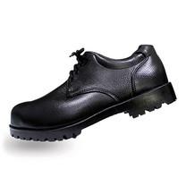 รองเท้าเซฟตี้หุ้มส้น หนัง PVC แบบผูกเชือก A-TAP รุ่น V-01 Size 41 สีดำ