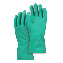 ถุงมือยางไนไตรล์ Microtex ยาว 13 นิ้ว สีเขียว ขนาดกลาง