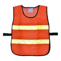 เสื้อจราจรแบบตาข่ายแถบสีเหลือง2แถบ YAMADA OR-6045U สีส้ม