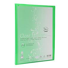 แฟ้มโชว์เอกสาร ฟลามิงโก้ 9084-40 23.8x31 ซม. A4 สีเขียว