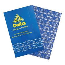 กระดาษคาร์บอน เดลต้า 21x33ซม. น้ำเงิน (100แผ่น)