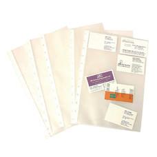 ซองใส่สมุดเก็บนามบัตร Bindermax รุ่น W-4098R 10 ซอง/แพ็ก สีใส