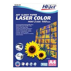 กระดาษเลเซอร์สีโฟโต้ HI-JET HLG164-100 A4 160g 100 แผ่น/แพ็ก