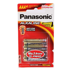 ถ่านอัลคาไลน์ พานาโซนิค LR03T/4B AAA(แพ็ค 4 ก้อน)