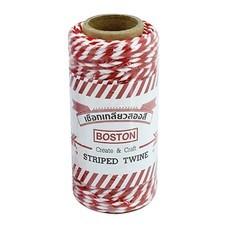 เชือกขาวแดง บอสตัน ขนาด 20 เมตร