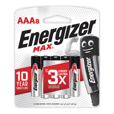 ถ่านอัลคาไลน์ Energizer MAX-E92 AAA 1.5 โวลต์ แพ็ค 8