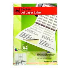 ป้ายสติกเกอร์ ช้าง Jet Laser#18-030 70x36มม.2,400 ป้าย(กล่อง 100 แผ่น)