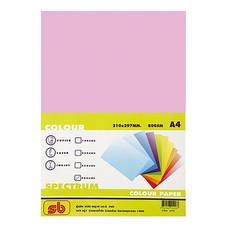 กระดาษสีถ่ายเอกสาร สเปคตรัม No.15 80/500 A4 สีชมพูเข้ม